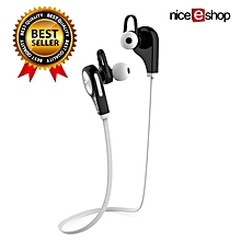 Wireless Bluetooth 4.1 Stereo Sport Earphone In-ear Headphone Earbuds (White) BDZ