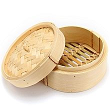 4 Pcs Set 6'' Bamboo Steamer Basket Homemade Food Rice Cooker Dim Sum Bamboo Lid