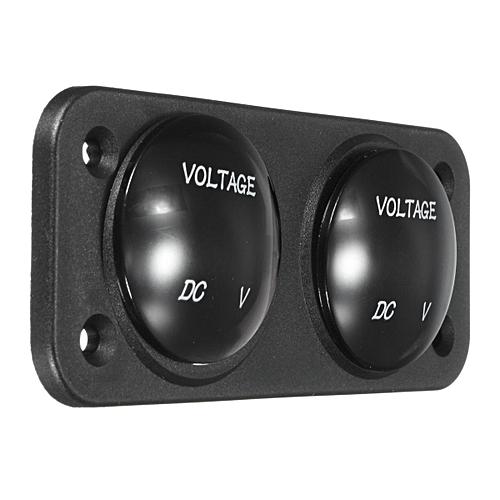 12V-24V Waterproof Car Motorcycle Red LED DC Digital Display Voltmeter Meter RED