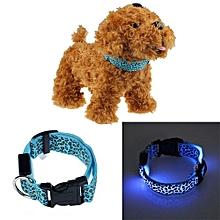 Pets Dog LED Lights Leopard Flash Night Safety Waterproof Collar BU M