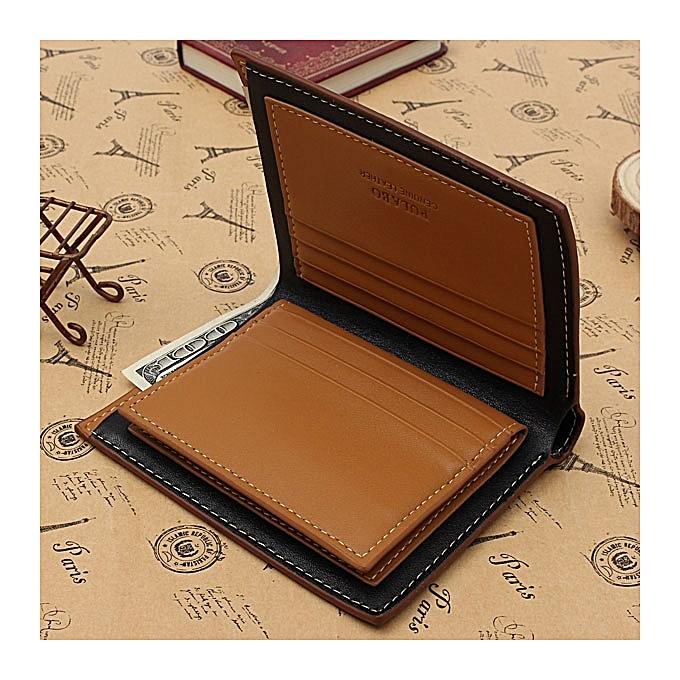 07e7881f17c5 Men's GENUINE leather Wallet ID/Name Card Holder Money Purse Slim Bifold  Clip Blue/