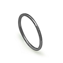 Simple Trendy Smooth Circle White/Rose  925 Sterling Silver Pinky Finger Ring Ring Size US 3