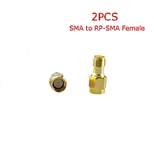 2PCS 5.8G FPV Antenna Gain Connector Adapter SMA to RP-SMA Female-