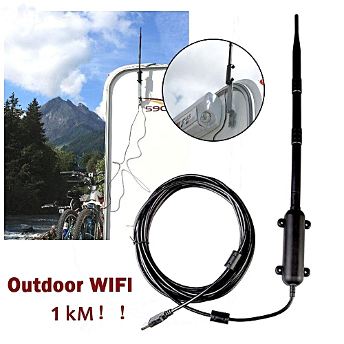 1000M High Power Outdoor WiFi Antenna USB Adapter Cellular Signal Amplifier  Omni-directional Wireless Network Card Receiver ( )