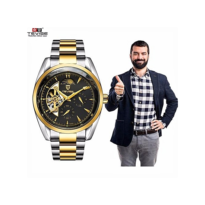 452a358a991 2017 NEW Popular TEVISE Men Business Watches Top Brand Luxury Famous  Mechanical Watch Mens Clock Male