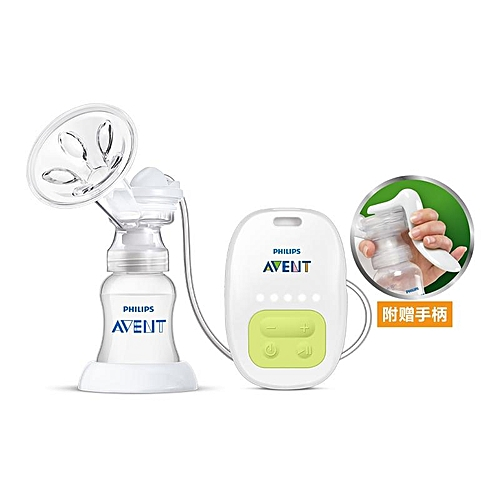 AVENT BPA Free Electric Manual Breast Massage Feeding Baby Sucking Squeeze Pump White