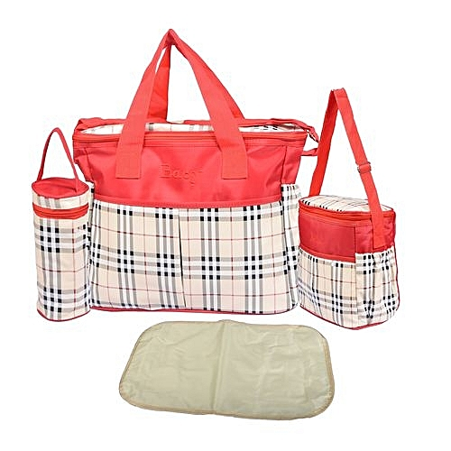 422755eb228 Buy Generic 4 Piece Multifunctional Diaper Bag - Red .   Best Price ...