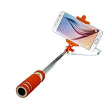 Mini Extendable Handheld Fold Self-portrait Stick Holder Monopod Orange