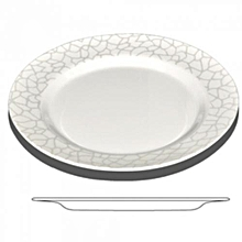 """RF4487-10"""" Dinner Plate (White Pearl) - Melamine Ware (10 Pieces) - White"""
