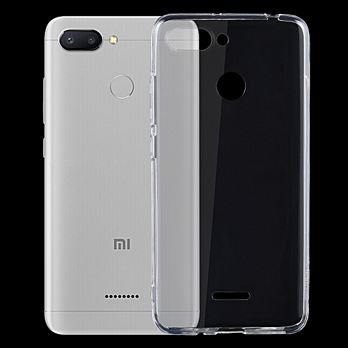 hot sale online 08fdb f5689 Shockproof TPU Protective Back Case for Xiaomi Redmi 6(Transparent)