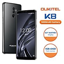 "Oukitel K8 4G 6.0"" 4GB RAM + 64GB ROM Android 8.0 5000mAh Battery - Black"