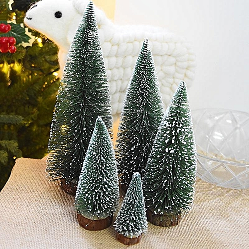 Generic 1pcs Diy Mini Christmas Tree Small Pine Tree Cedar Placed In