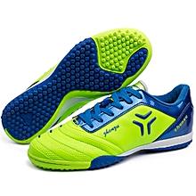 Zhenzu Outdoor Sporting Professional Training PU Football Shoes, EU Size: 38(Green)
