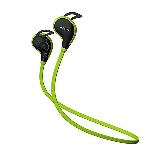 JOWAY H12 Sport Wireless Bluetooth V4.1 In Ear Earphone With Mic Earbuds Universal For Mobile Phones TPE Flat Cable (Green)