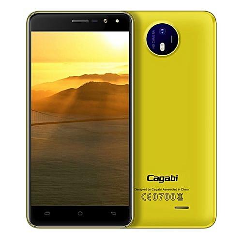 Vkworld Cagabi One 5.0-Inch Android 6.0 OTA 1GB RAM 8GB ROM MT6580A Quad-Core 1.3GHz 3G Smartphone Yellow
