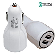 Qualcomm Certificated QC2.0 Dual USB Car Charger Quick Charge Adapter For Phones