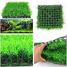 Artificial Water Aquatic Green Grass Plant Lawn Aquarium Fish Tank Landscape New-Green