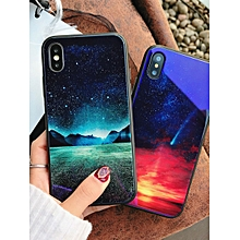 iPhone X/8/8 Plus/7/7 Plus/6S/6/6 Plus Phone Cover Landscape Pattern Blu-Ray Back Case    IPHONE 8    green