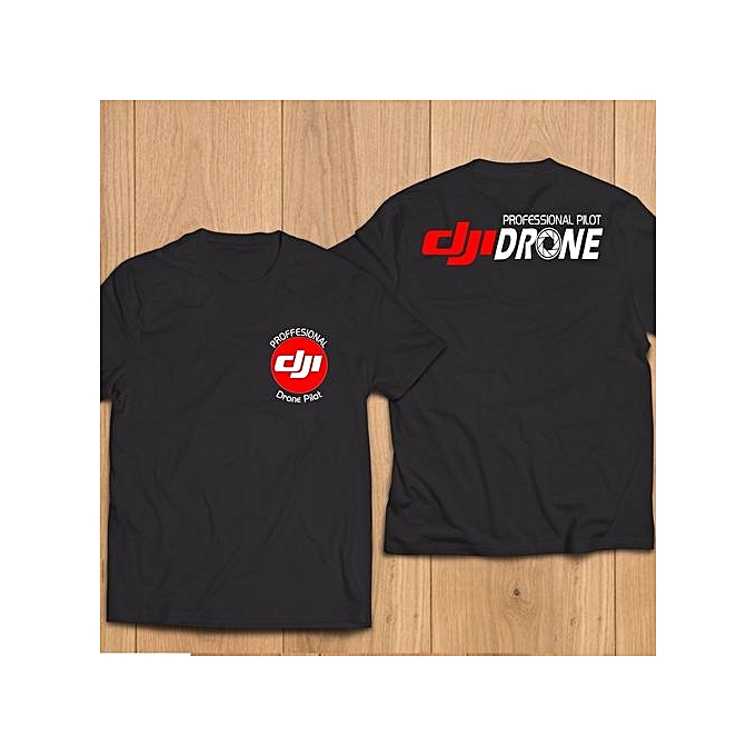 d4d9a694 Fashion Dji Professional Pilot Drone Mens T-shirt Short Sleeves Summer  Funny Tops