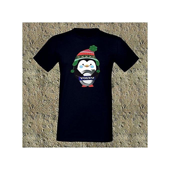 T Shirt Weihnachten.Volvo Penguin Winter Gift Geschenk Weihnachten Men S T Shirt Summer Short Sleeve Shirt Cotton High Quality Colorful Tops