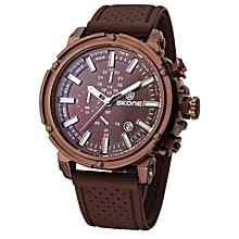 SKONE Fashion Chronograph Clock Sport Mens Watches Top Brand Luxury Military Quartz Watch Relogio Masculino Reloj Hombre (Purple) JY-M