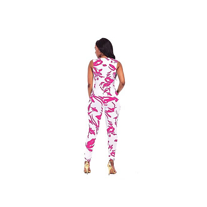 2b50a116405 ... Hot Sale Sexy Womens Sleeveless Bandage Bodycon Jumpsuit Romper  Trousers Evening Clubwear-Rose