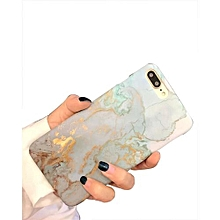 Gold Stamping Marble Grain Phone Case For IPhone 7 Plus -Blue