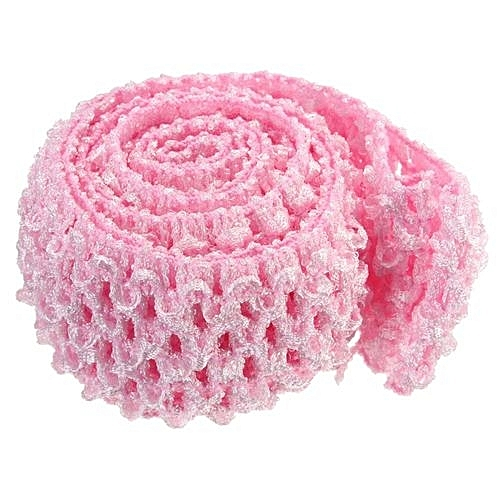 UNIVERSAL 1.5   Crochet Elastic Stretchy Waistband Headband Hairband Band  For Tutu Skirt Baby Pink (Intl) 584347dec48