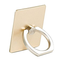 Finger Grip Rotating Ring Stand Holder for Mobile Phones - Gold