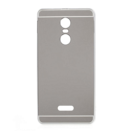cheap for discount 39f04 e736b Slide-on Metal Bumper Plating PC Back Cover For Lenovo K6 Note - Black