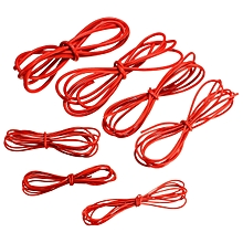 DANIU 2 Meter Red Silicone Wire Cable 10/12/14/16/18/20/22AWG Flexible Cable 20AWG