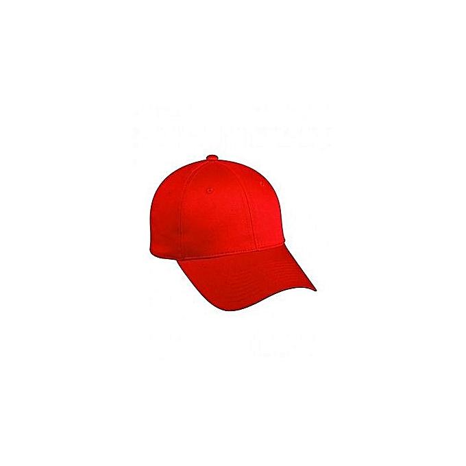 Generic Red Plain Cap   Best Price  25cf933c1580