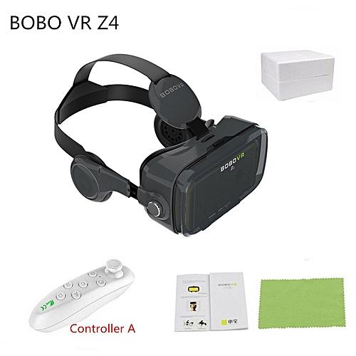 6fac5a43afa8 Generic VR Z4 3D Cardboard VR Glasses Leather Helmet Virtual Reality VR  Glasses Stereo Headset Vr Box for 4-6.2 inch Mobile Phone QDJRO