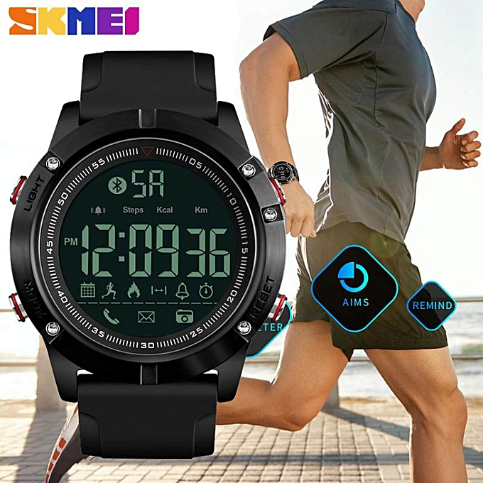 SKMEI Men Smart Watch Bluetooth Sports Waterproof Digital Watch Calories  Pedometer Multifunction Reminder Jam tangan lelaki ... b7ee963e5d