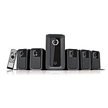 Multimedia Woofer HT-6010W Five speakers- Black 5.1