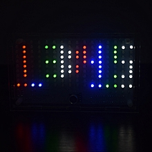 DIY FFT1625 Digital Clock Music Spectrum Electronic Kit With Temperature Display With Housing Colorful