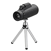 MOGE 50X HD Zoom Monocular Night Vision Telescope + Clip&Tripod For Mobile Phone - Black