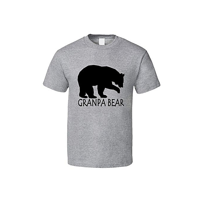 5998c5a6 Grandpa Bear Fathers Day Gift Cool Animal Lover Funny T Shirt Fashion  O-Neck Short