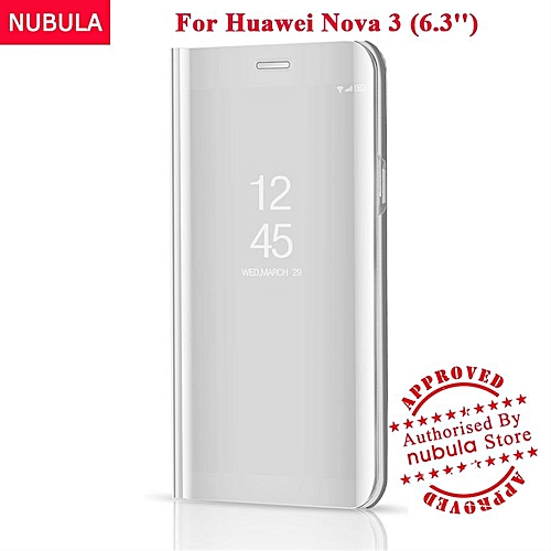 quality design cd6fc 4c425 For Huawei Nova 3 Flip Case,360 Degree Luxury Mirror Clamshell Hard Shell  Case Smart Clear View Flip Cover For Huawei Nova 3 129097 Color-1