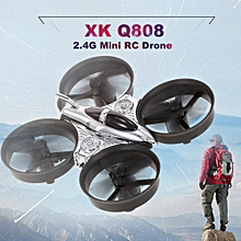 Q808 2.4G 6-Axis Gyro Mini Ducted Drone Altitude Hold 360° Flip Headless Mode RC Quadcopter for Beginner RTF