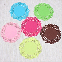 Lace Flower Doilies Silicone Coaster Tea Cup Mats Pad Insulation Placemat LAU