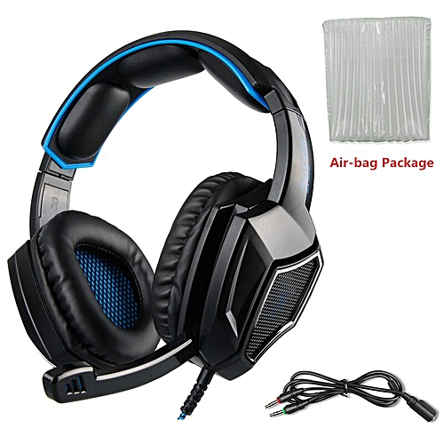 b45af83b45a Generic SA920 Plus PS4 Gaming Headset Gamer Bass Headphones with Mic for  Xbox one Switch PC Phone PUBG Game headset Stereo Casque (Blue Air-bag  Package)