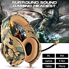 Gaming Headset for PS4 New Xbox one PC Mac Nintendo DS PSP ONIKUMA Over Ear 3.5mm Headphones with Mic Noise Isolating Deep Bass Surround for PUBG Game -Camouflage xYx-S