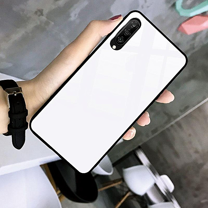 Glass Case For Huawei P30 Cover Full Protection Tempered Glass Back Cover  Casing For Huawei P30 Glass Housing (Black)