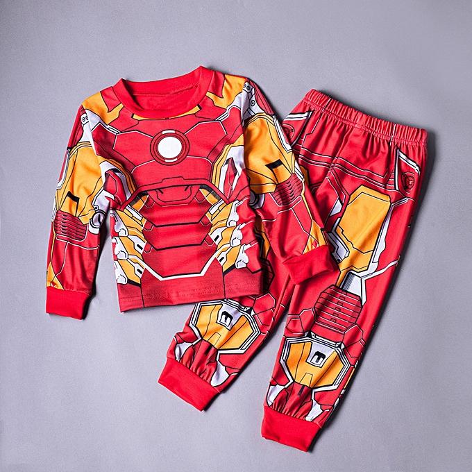 6d1a99c700348 Baby Kids Boys Soft 2Pcs Pajamas Set Sleepwear Cartoon Character Cosplay  Role Costume Home Clothing