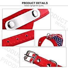 Flag Pet Collar Adjustable Pet Dog Cat Collars Triangle Scarf PU Puppy Collar