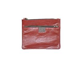 Large leather clutch / purse