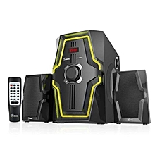 Multimedia 2.1 Channel Subwoofer With Bluetooth - Black & Yellow