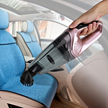 120W LED Cordless Rechargeable Wet Dry Poratble Handheld Car Home Vacuum Cleaner (Rose Gold)