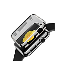Ultra-Slim Electroplate PC Hard Case Cover For Apple Watch Series 1 42mm RG-Black